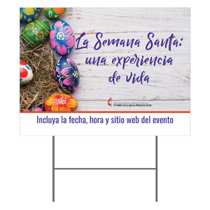 UMC Easter Eggs Spanish Yard Signs