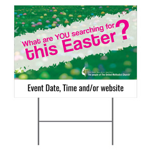 UMC Easter Search Yard Signs