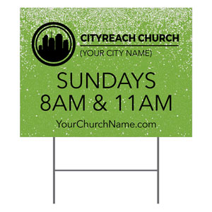 CityReach Green Pebble Fade Yard Signs
