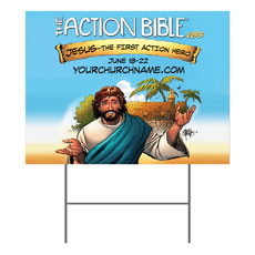 The Action Bible VBS Yard Sign