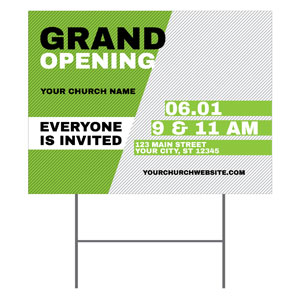 Grand Opening Invite Green YardSigns