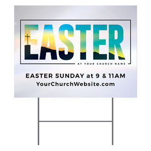 Bold Easter Calvary Hill Yard Signs
