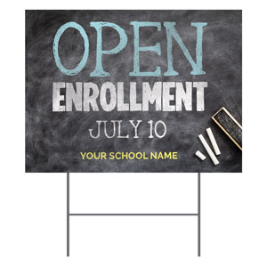 Open Chalkboard YardSigns