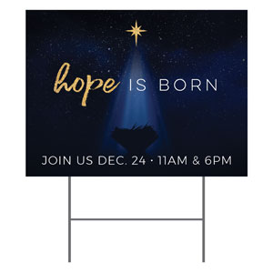 Christmas Star Hope is Born YardSigns