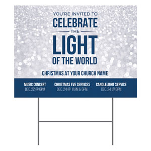 Sparkle Celebrate Light YardSigns