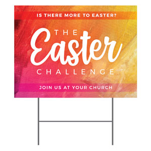 The Easter Challenge YardSigns