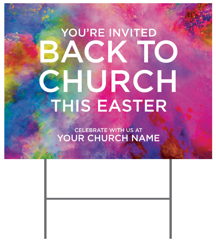 Yard Signs, Easter, Back to Church Easter, 18 x 24