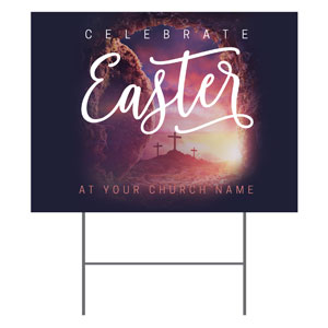Dramatic Tomb Easter YardSigns