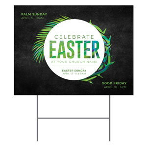 Easter Palm Crown YardSigns