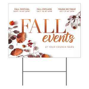 Fall Events Nature YardSigns