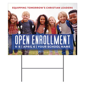 Kids Enroll Together YardSigns