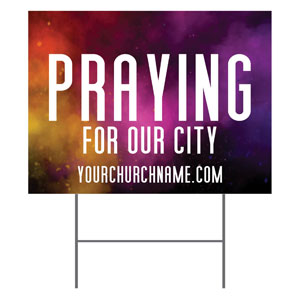 Dark Smoke Praying For Our City YardSigns