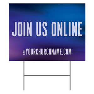 Aurora Lights Join Us Online YardSigns