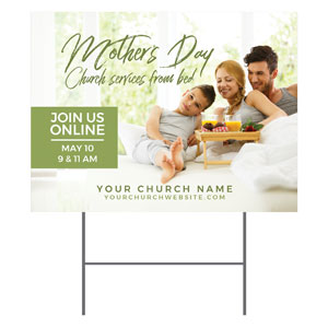 Online Mother's Day In Bed YardSigns