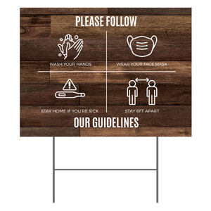 Walnut Guidelines Yard Signs - Stock 1-sided