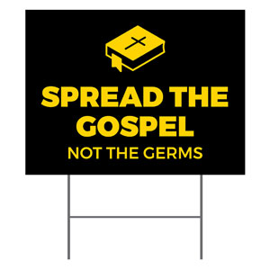 Black Spread the Gospel YardSigns