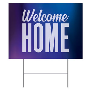 Aurora Lights Welcome Home YardSigns