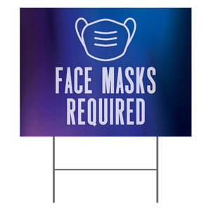 Aurora Lights Face Masks Required YardSigns