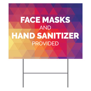 Geometric Bold Masks Sanitizer YardSigns