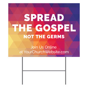 Geometric Bold Spread the Gospel YardSigns