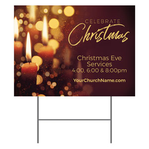 Celebrate Christmas Candles YardSigns
