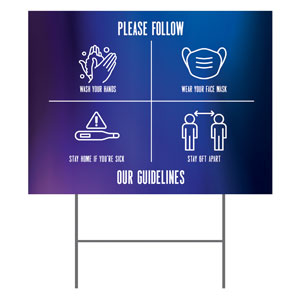 Aurora Lights Guidelines Yard Signs - Stock 1-sided