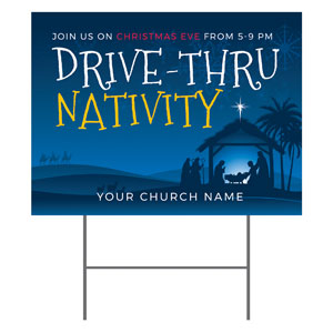 Drive-Thru Christmas Nativity YardSigns