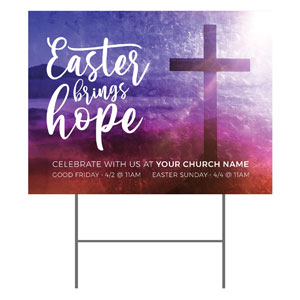 Easter Brings Hope Cross YardSigns
