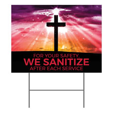 Hope Life Cross We Sanitize