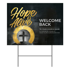 Hope Is Alive Gold Welcome Back