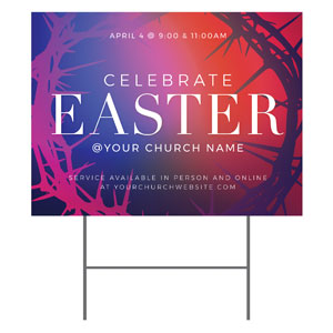 Celebrate Easter Crown YardSigns