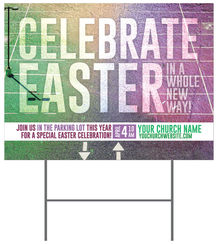 Yard Signs, Easter, Easter New Way, 18 x 24