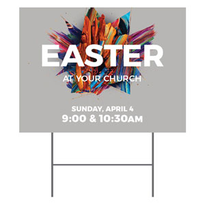 CMU Easter Invite 2021 Grey YardSigns